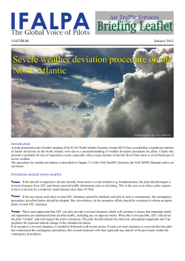 Severe weather deviation procedure on the North Atlantic