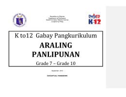 araling panlipunan - Fund for Assistance to Private Education