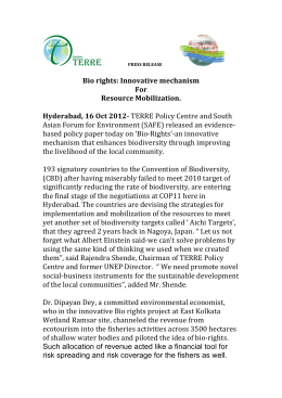 Bio rights - TERRE Policy Centre