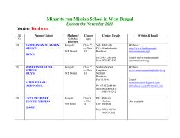 Minority run Mission School in West Bengal