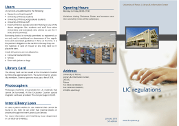 Library Regulation Leaflet