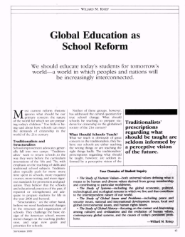 Global Education as School Reform