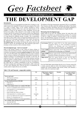 1. Geofile Development gap