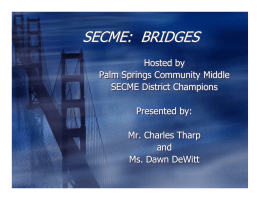 secme: bridges - The School District of Palm Beach County