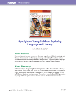 Exploring Language and Literacy - National Association for the