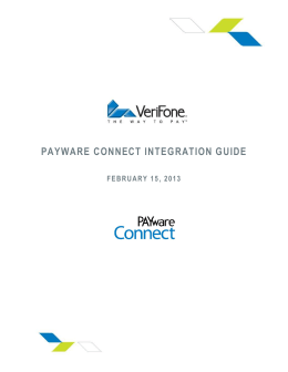 PAYWARE CONNECT INTEGRATION GUIDE