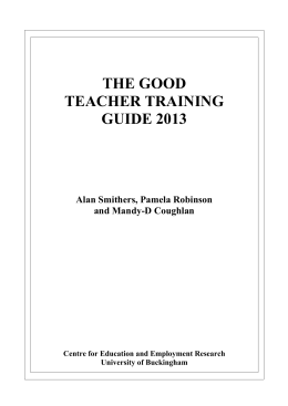 The Good Teacher Training Guide 2012