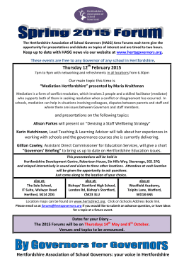 your voice in Hertfordshire Thursday 12 February 2015