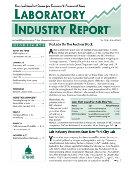 laboratory industry report