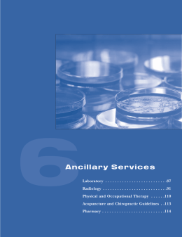 Ancillary Services - Oxford Health Plans