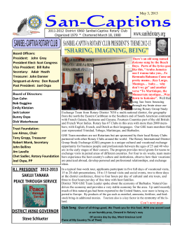 Bulletin 5-10-13 GSE West Caribbean - Sanibel