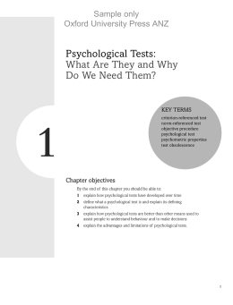 Psychological Tests: What are They and Why Do