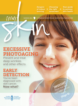 of skin cancers - Canadian Dermatology Association