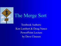 The Merge Sort
