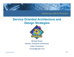 Service Oriented Architecture and Design Strategies