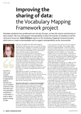Improving the sharing of data: the Vocabulary Mapping Framework