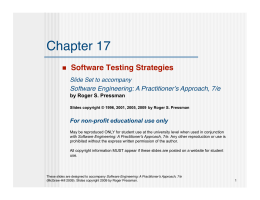 Software Testing Strategies - Department of Biology | Emory University
