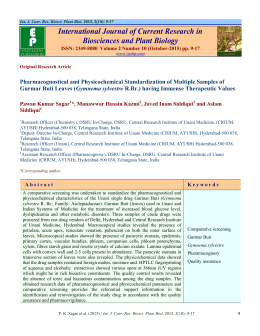 View Full Text-PDF - International Journal of Current Research in
