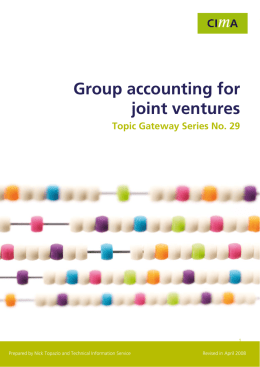 Group Accounting for Joint Ventures Topic Gateway