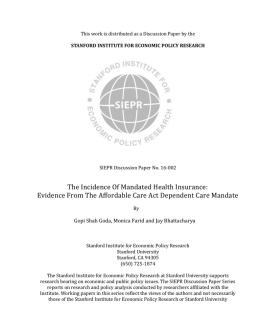 The Incidence Of Mandated Health Insurance: Evidence