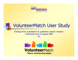 VolunteerMatch User Study