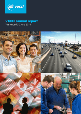 VECCI annual report - Victorian Chamber of Commerce and Industry