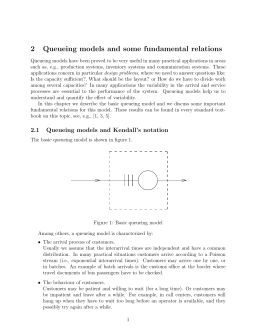 2 Queueing models and some fundamental relations