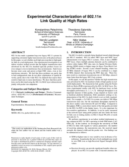 Experimental Characterization of 802.11n Link Quality