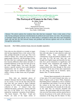 The Portrayal of Women in the Fairy Tales