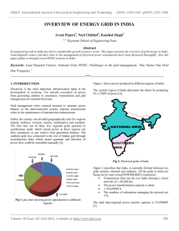 overview of energy grid in india