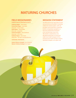 MATURING CHURCHES
