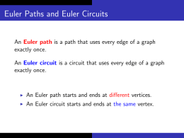 Euler Paths and Euler Circuits
