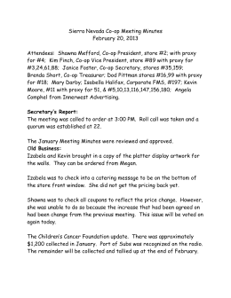 Sierra Nevada Co-op Meeting Minutes February 20
