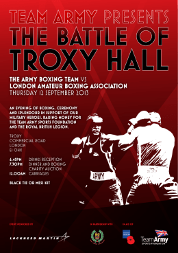 THE ARMY BOXING TEAM VS LONDON AMATEUR BOXING
