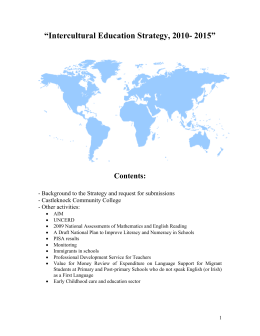 Intercultural Education Strategy, 2010- 2015