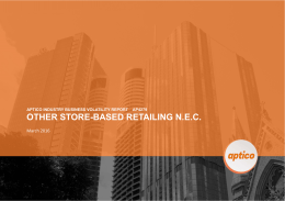 other store-based retailing nec