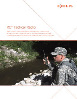 Exelis RO Tactical Radio