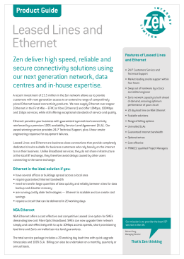 Leased Lines and Ethernet Product Guide