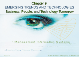 Lecture slides for emerging trends and technologies