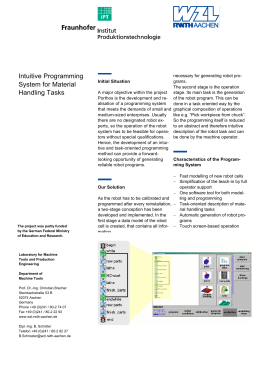 Intuitive Programming System for Material Handling Tasks