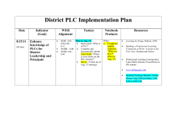 District PLC Implementation Plan