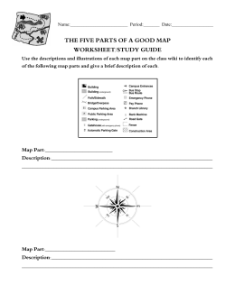 the five parts of a good map worksheet/study guide