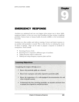 Chapter 9. - Emergency Response