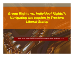 Group Rights vs. Individual Rights?: Navigating the Tension in