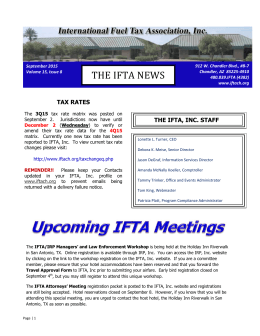 THE IFTA NEWS