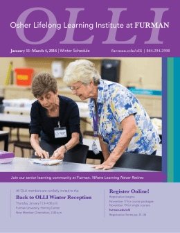 Osher Lifelong Learning Institute at FURMAN