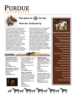 Horse Industry - Animal Sciences