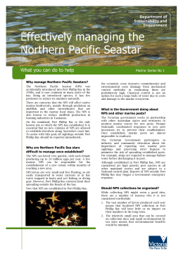 Effectively managing the Northern Pacific Seastar