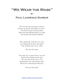 """We Wear the Mask"""