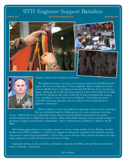 March 2011 Newsletter - 9th Engineer Support Battalion